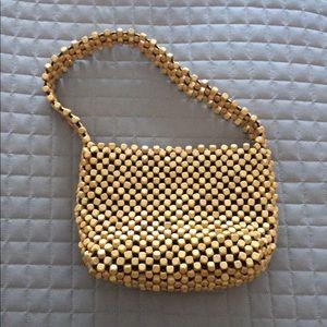 NWOT Wooden beaded shoulder bag